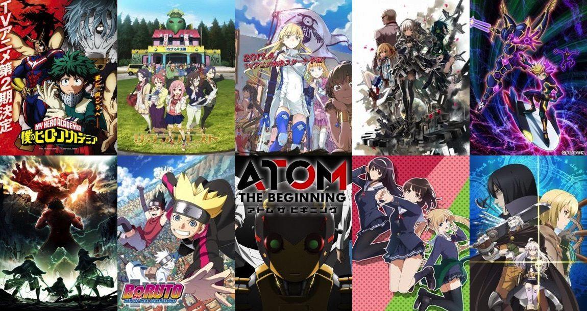 Animes da Primavera 2017 – Lista de trailers